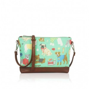 Kabelka Small Crossbody Mix Dogs - zelená